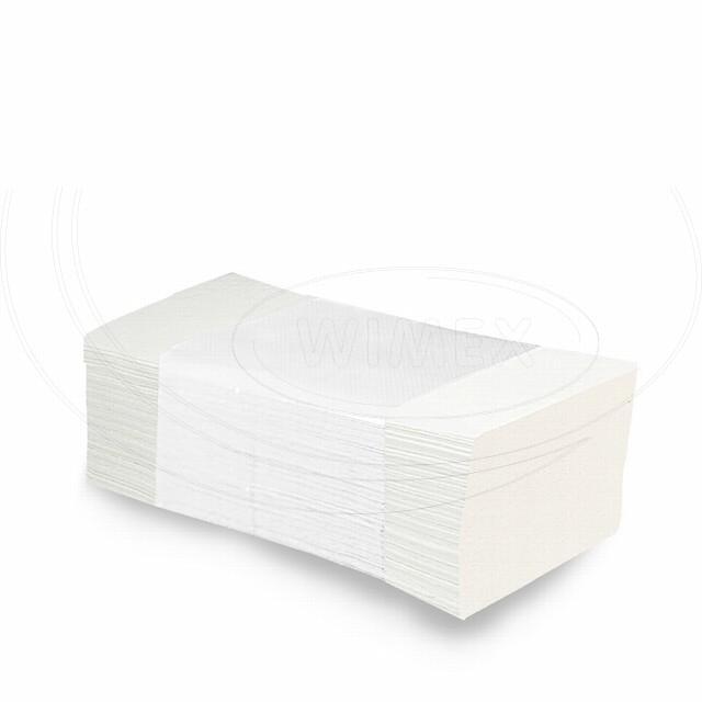 Ručníky tissue ZZ, 2-vrstvé , 24 x 21,5 cm, bílé [3000 ks]