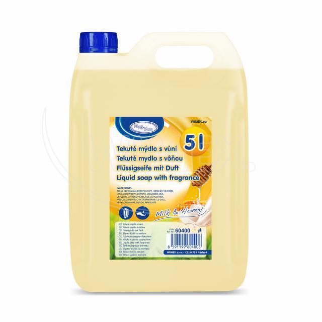 """Tekuté mýdlo do dávkovače """"Mléko & Med"""" 5 litrů [1 ks]"""