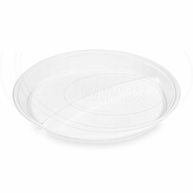 Talíř dělený na 2 porce, bílý (PP) Ø 22 cm [100 ks]