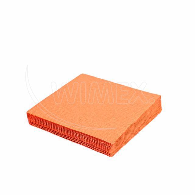 Ubrousek 2vrstvý, 33 x 33 cm oranžový [50 ks]