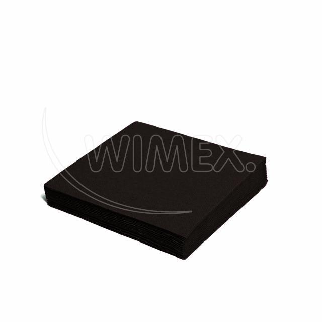 Ubrousek 2vrstvý, 33 x 33 cm černý [50 ks]