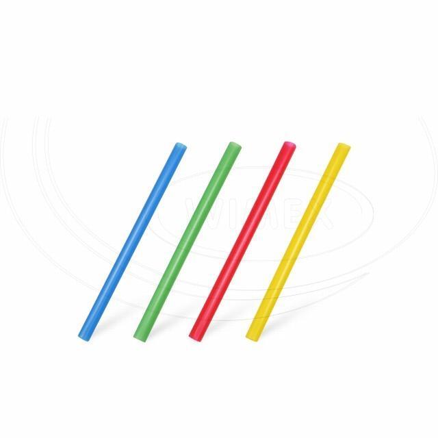 Slámka koktejlová JUMBO barevný mix 13cm, Ø 8mm [150 ks]