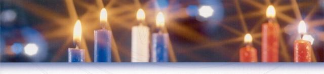 Svíčka kónická 245 mm světle modrá [10 ks]