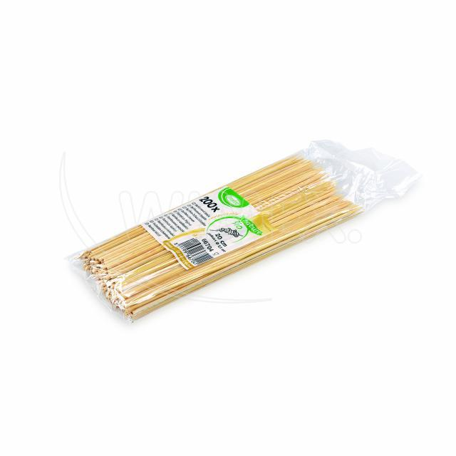 Bambusová špejle hrocená 20 cm, Ø 2,5 mm [200 ks]