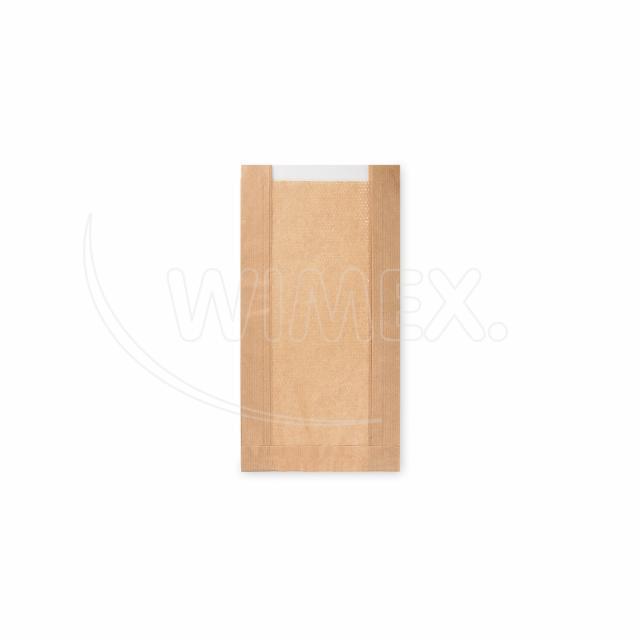 Pap. sáček s okénkem - pečivo malé (15+6x29cm, ok.10cm) [1000 ks]