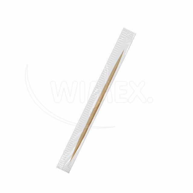 Dřevěné párátko hyg. balené v celofánu Ø 2 x 65 mm [1000 ks]