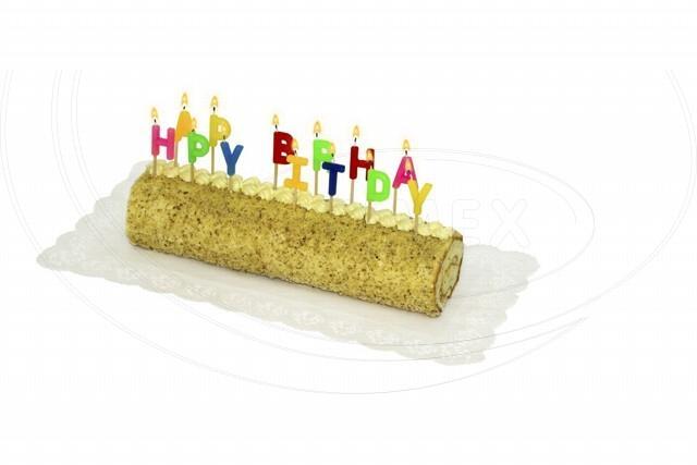 Svíčka PARTY - HAPPY BIRTHDAY na špejli 65 mm [13 ks]
