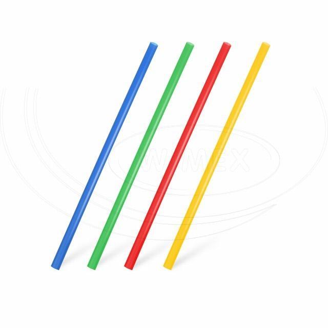 Slámka JUMBO barevný mix 20 cm, Ø 8 mm [500 ks]