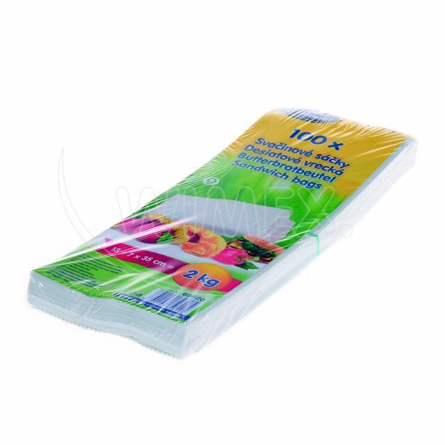 Svačinový papírový sáček 2kg (14+7 x 32 cm) [100 ks]
