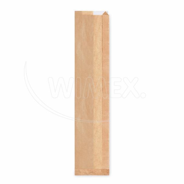 Pap. sáček s okénkem - bageta (12+5x59cm, ok. 8cm) [1000 ks]