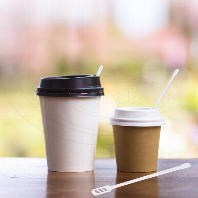 Míchačka na kávu velká, bílá 16 cm [1000 ks]