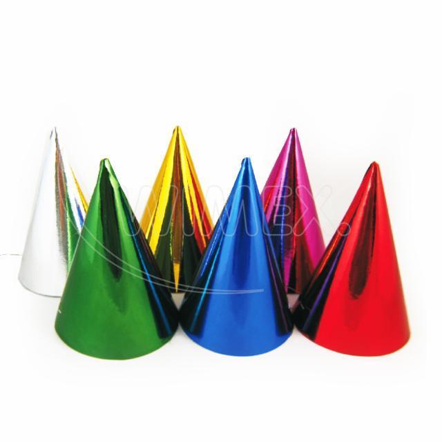 Papírový barevný klobouček [6 ks]