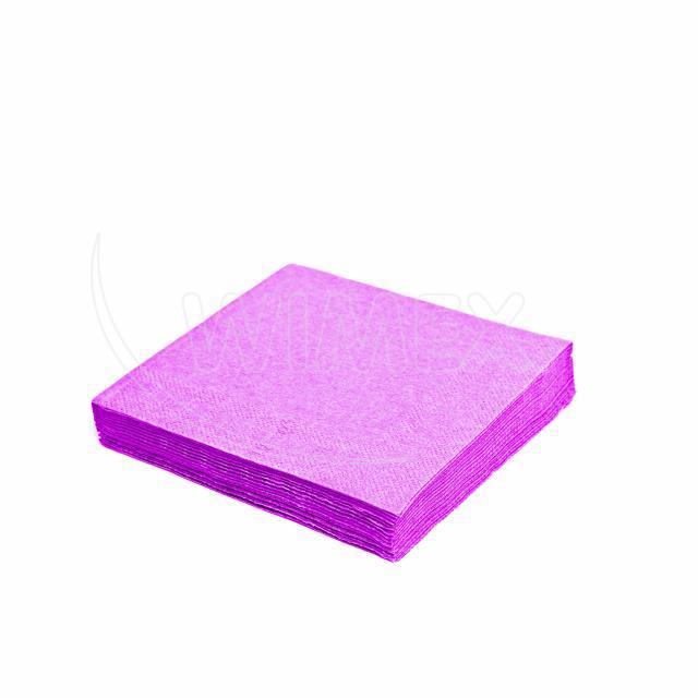 Ubrousek 2vrstvý, 33 x 33 cm světle fialový [50 ks]