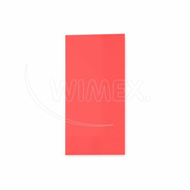 Ubrousek 3vrstvý, 33 x 33 cm červený 1/8 skládání [250 ks]