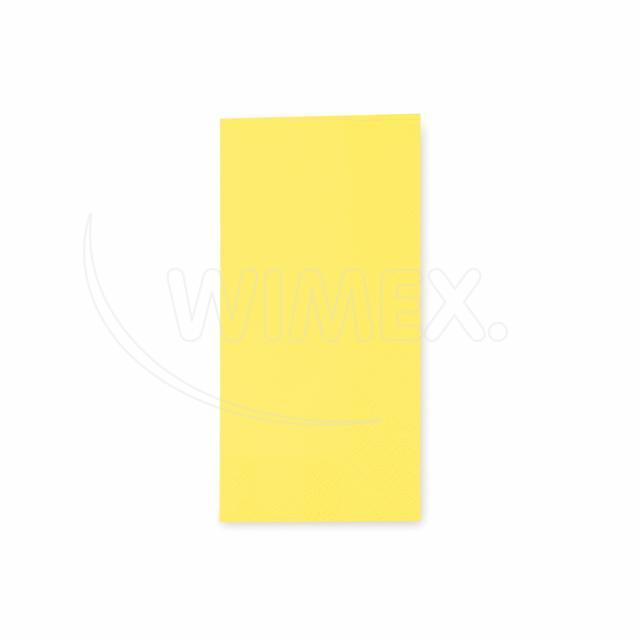 Ubrousek 3vrstvý, 33 x 33 cm žlutý 1/8 skládání [250 ks]