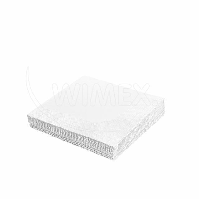 Ubrousek 2vrstvý, 24 x 24 cm bílý [250 ks]