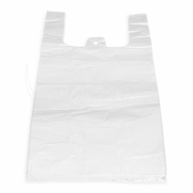 Taška 15kg bílá 30+20 x 60 cm -extra silná- [50 ks]