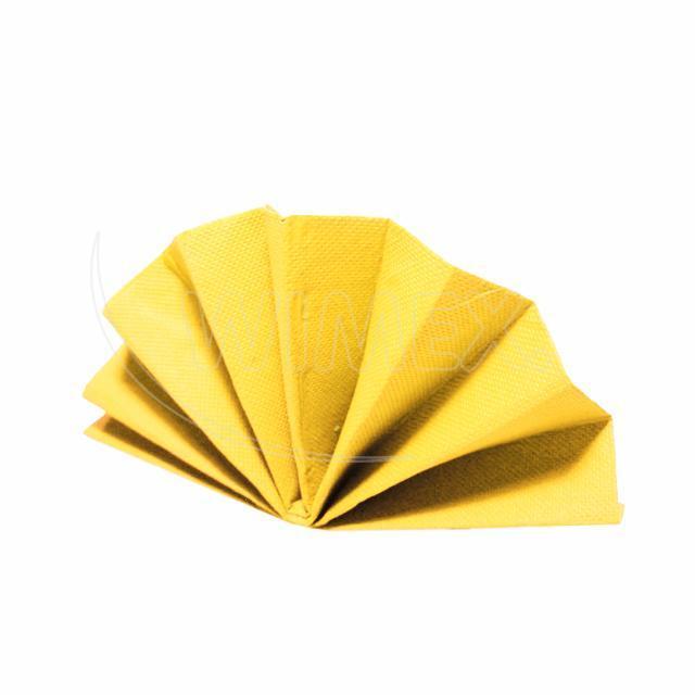 Ubrousek DekoStar 40 x 40 cm žlutý [40 ks]