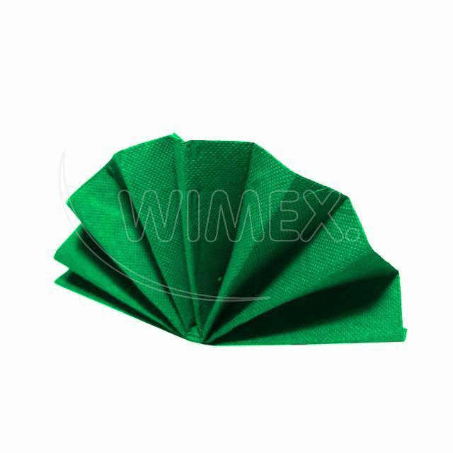 Ubrousek DekoStar 40 x 40 cm tmavě zelený [40 ks]