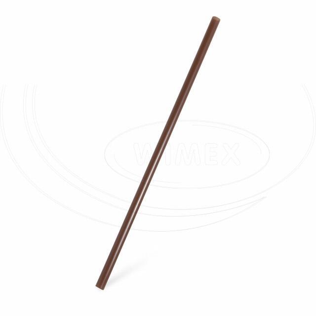 Slámka JUMBO hnědá 25 cm, Ø 8 mm [150 ks]