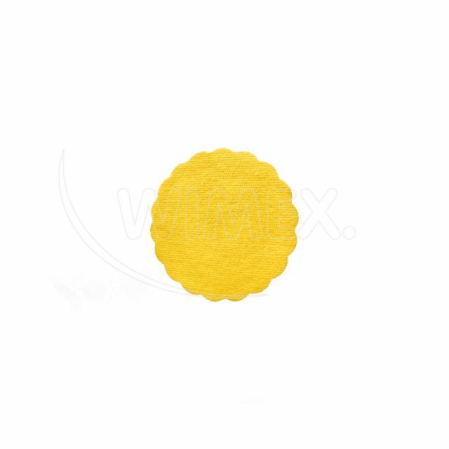 Rozetka PREMIUM Ø 9 cm žlutá [40 ks]