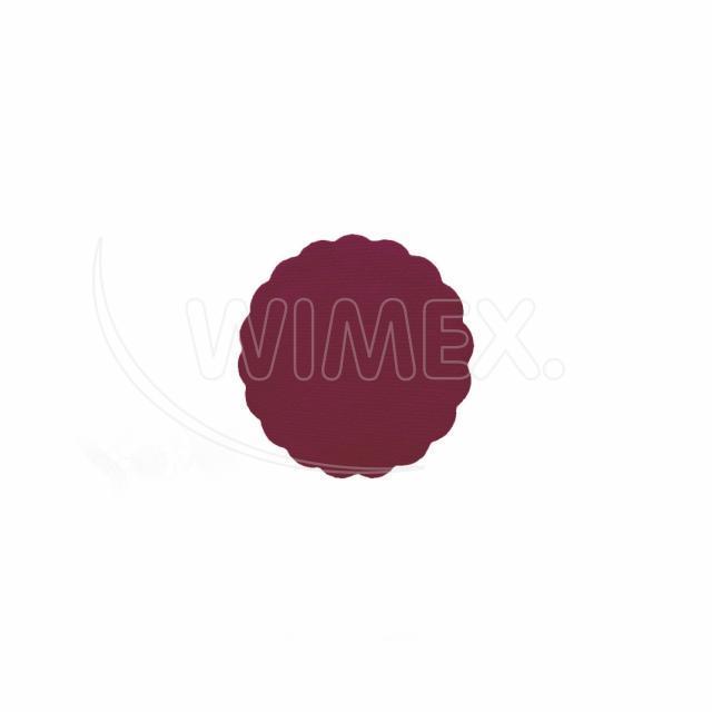 Rozetka PREMIUM Ø 9 cm bordová [40 ks]