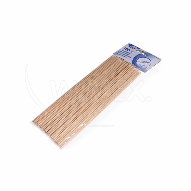 Dřevěná špejle hrocená 25 cm, Ø 3 mm [100 ks]