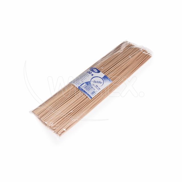 Dřevěná špejle nehrocená 30 cm, Ø 2,5 mm [100 ks]