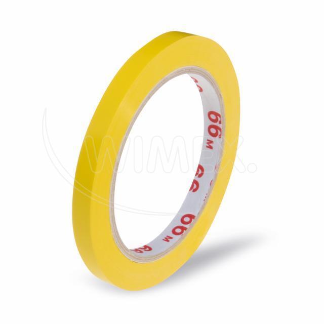 Lepící páska pro zavírací strojek, žlutá 66m x 9mm [1 ks]