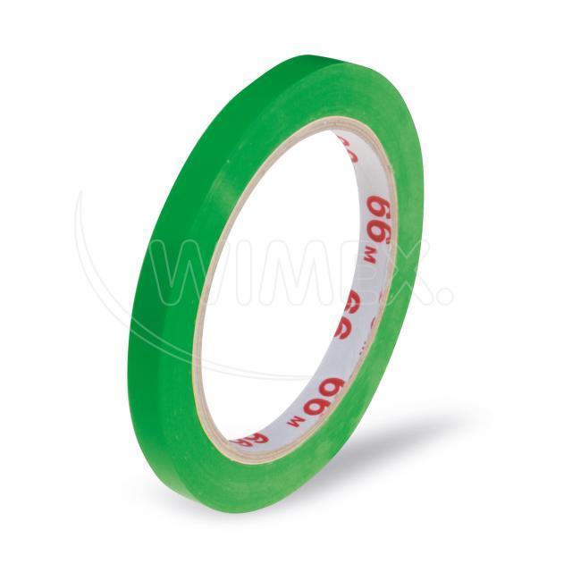 Lepící páska pro zavírací strojek, zelená 66m x 9mm [1 ks]