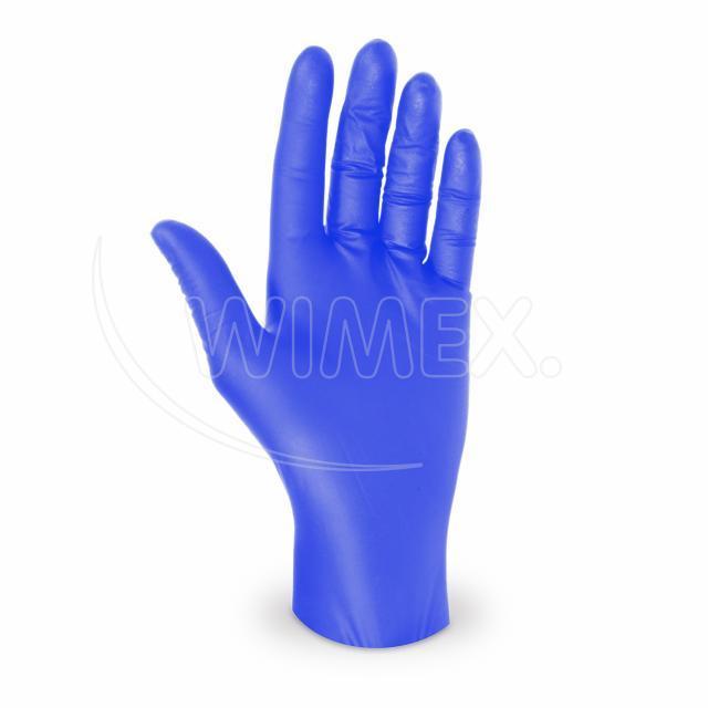 Rukavice nitrilová modrá, nepudrovaná (velikost M) [100 ks]