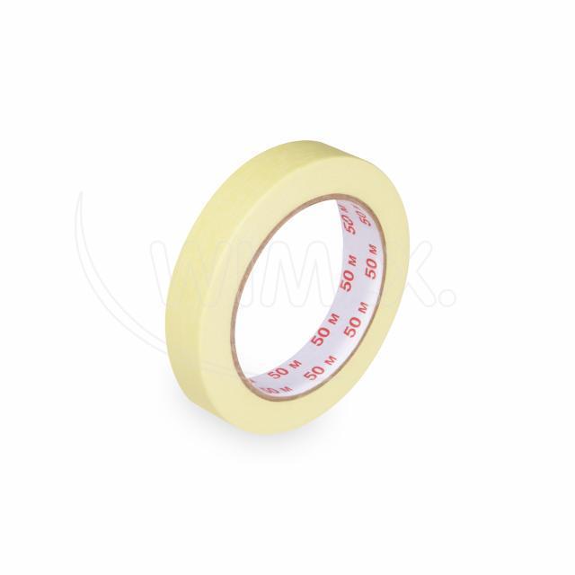 Lepící páska krepová, žlutá, 19 mm x 50 m [1 ks]
