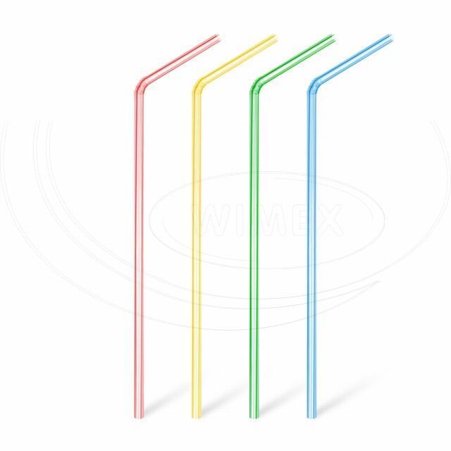 Slámka flexibilní čirá pruhovaná 24 cm, Ø 5 mm [1000 ks]