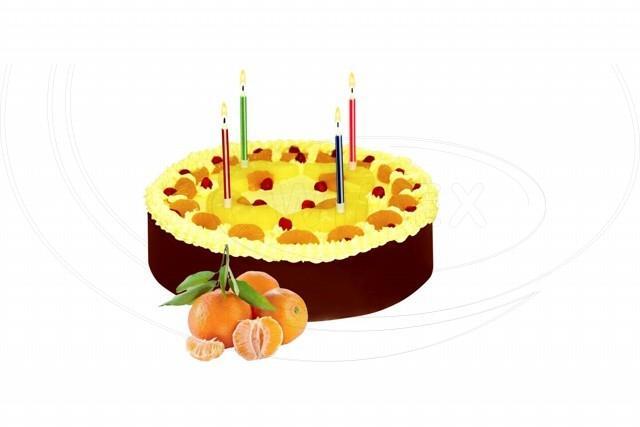 Svíčka narozeninová se stojánkem 60 mm [10 ks]