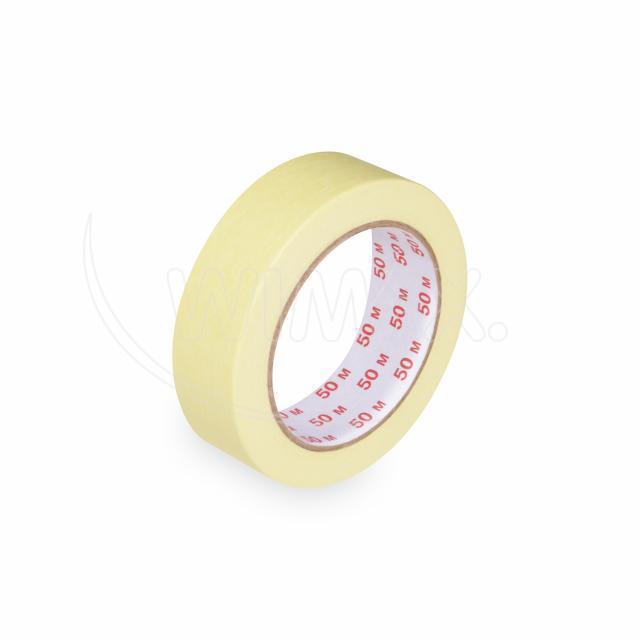 Lepící páska krepová, žlutá, 30 mm x 50 m [1 ks]