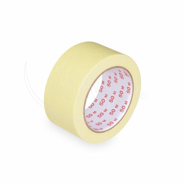 Lepící páska krepová, žlutá, 50 mm x 50 m [1 ks]
