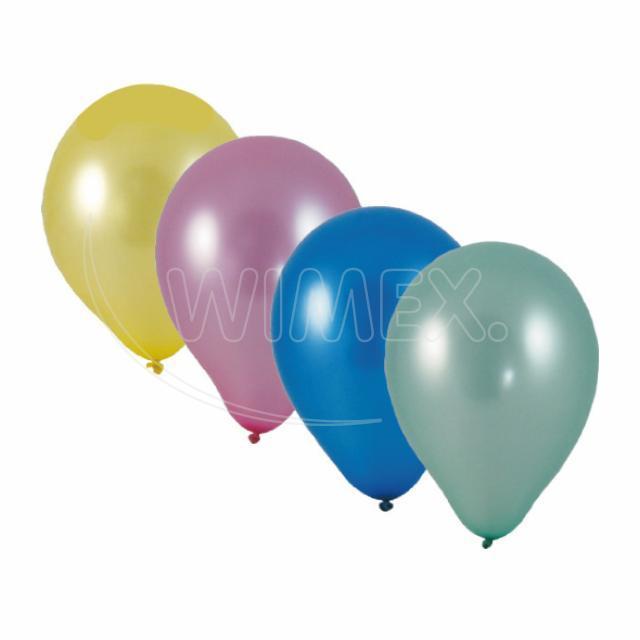 """Nafukovací balónek metalíza mix """"M"""" [100 ks]"""