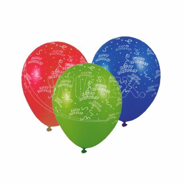 "Nafukovací balónek ""Happy Birthday"" ""L"" [100 ks]"