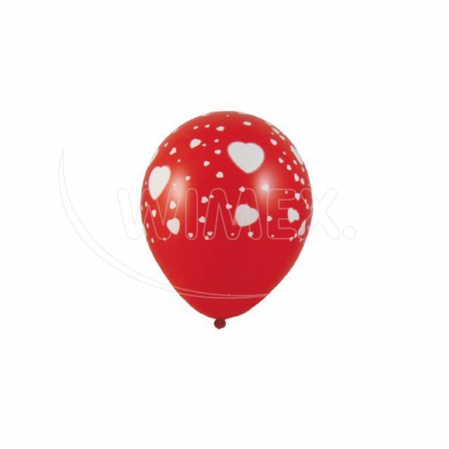 """Nafukovací balónek """"Bílá srdíčka"""" """"L"""" [5 ks]"""