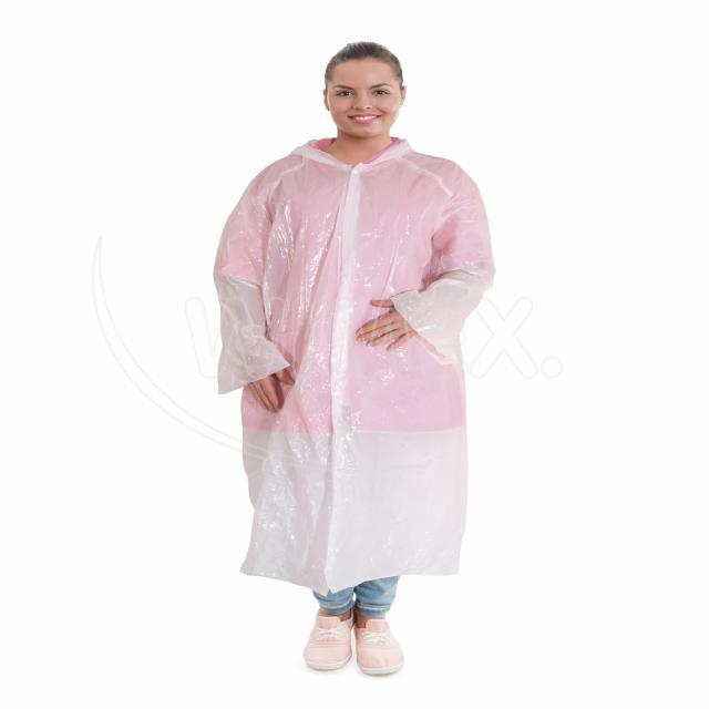 Plášť pro návštěvy / Pláštěnka s kapucí (PE) [10 ks]