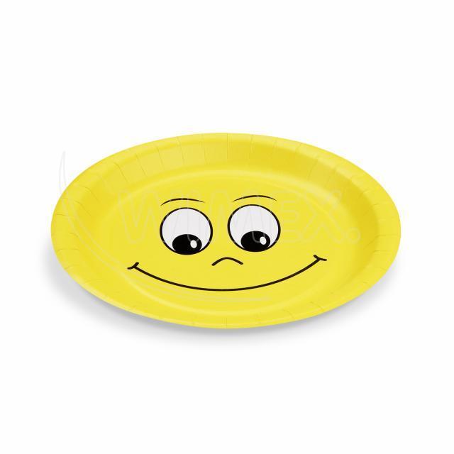 Papírový talíř Ø 23 cm SMILING FACE [10 ks]