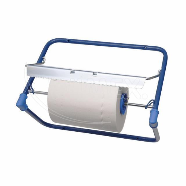 Odvinovač kovový nástěnný pro utěrky v roli, modrý [1 ks]