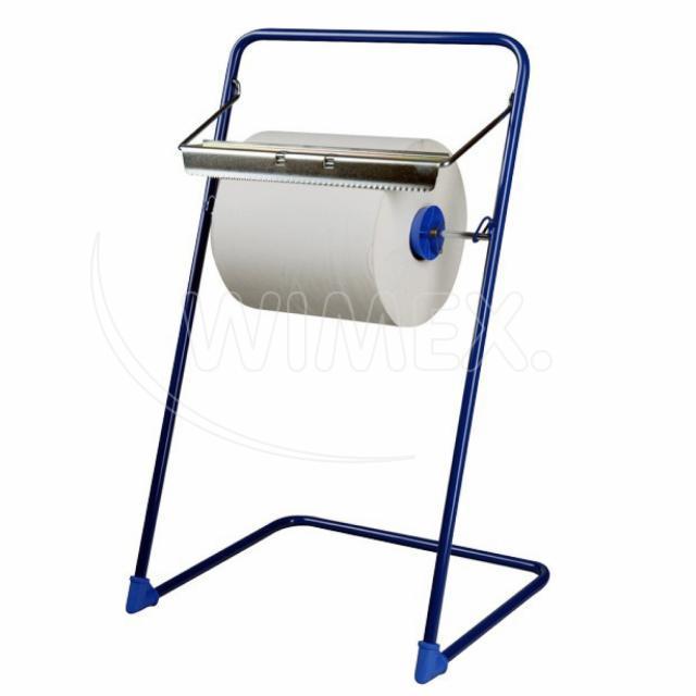Odvinovač kovový stojanový pro utěrky v roli, modrý [1 ks]