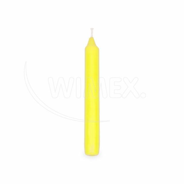Svíčka rovná 170 mm žlutá [20 ks]
