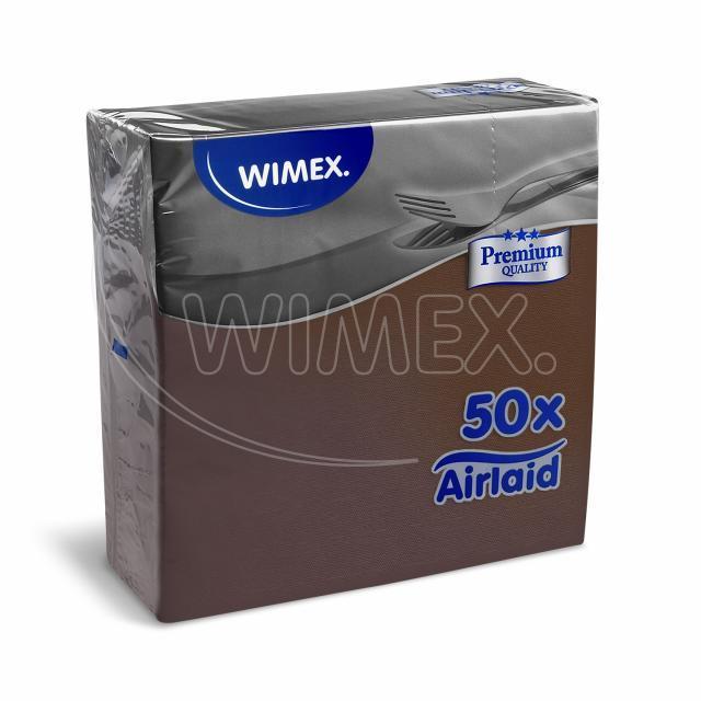 Ubrousek PREMIUM 40 x 40 cm hnědý [50 ks]