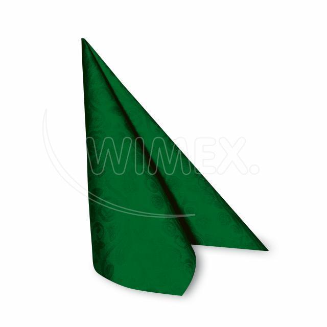 "Ubrousek PREMIUM 40x40cm ""dekor R"" tmavě zelený [50 ks]"