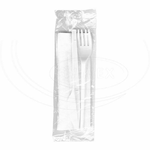 Sada (nůž + vidlička + ubrousek) hyg. balená [100 ks]