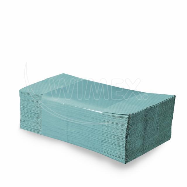 Papírové ručníky skládané ZZ, 25 x 23 cm, zelené [4000 ks]