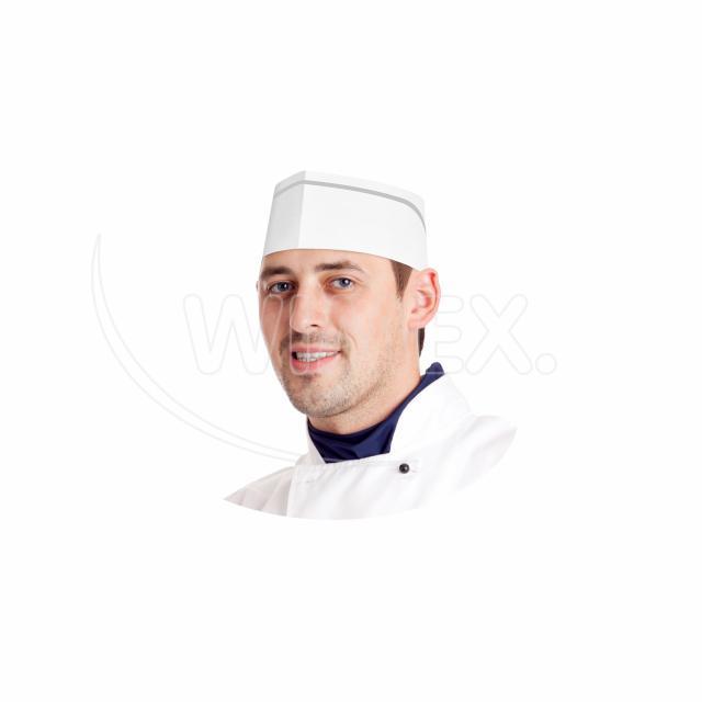 Kuchařská čepice z papíru, lodička bílá [25 ks]