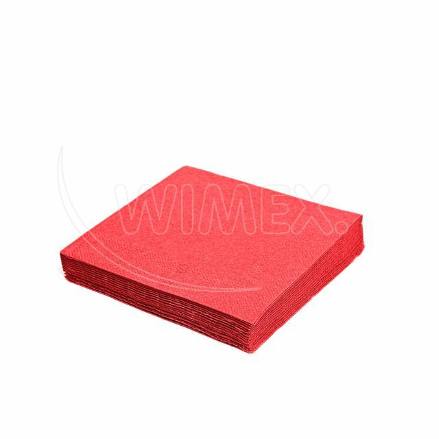 Ubrousek 3vrstvý, 40 x 40 cm červený [250 ks]